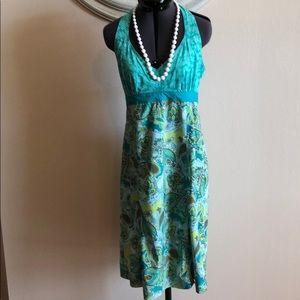 Athleta Green Halter Dress